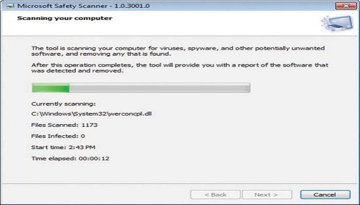 Run malware scan