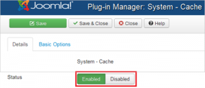Enable Cache System